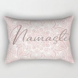Pink Mandala, Namaste Greeting, Yoga Rectangular Pillow