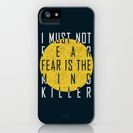 Dune - The Litany Against Fear (WHT) iPhone Case
