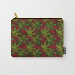 Cannabis Leaf - Crimson Carry-All Pouch
