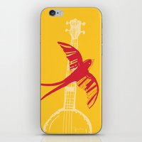 swallow iPhone & iPod Skins featuring Swallow by Cai Sepulis