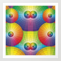 Rainbow Pretty Circles Color Wheel Awesome Thing Art Print