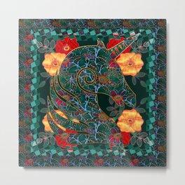 Unicorn Tapestry Metal Print