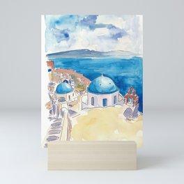 Santorini Oia View Mediterranean Dream Mini Art Print