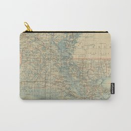 Vintage Map of Louisiana (1896) Carry-All Pouch
