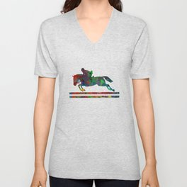 Horseback Riding Unisex V-Neck