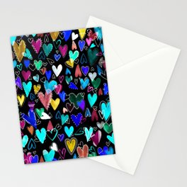 Crazy heart Stationery Cards