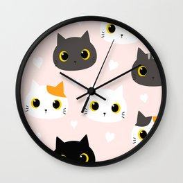 adorable kittens Wall Clock
