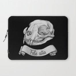 Cat skull in ink Laptop Sleeve