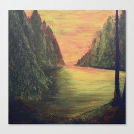 Evergreen Sunset Canvas Print
