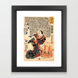 The Cat Turned into a Woman Framed Art Print