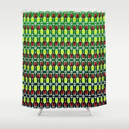 Wine Glasses Of Red And White Shower Curtain