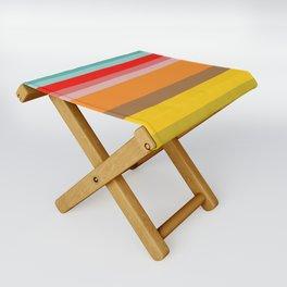 Color Stripes Folding Stool