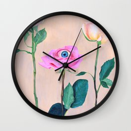 Beauty is in the Eye Wall Clock