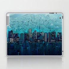 boston city skyline Laptop & iPad Skin