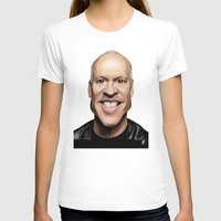 celebrity T-shirts featuring Celebrity Sunday ~ Michael Keaton by rob art | illustration