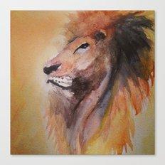 Lion Watercolor  Canvas Print