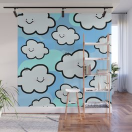 Cheery Cloud Cluster Wall Mural