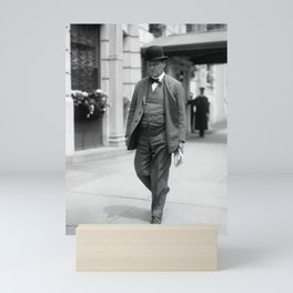Clarence Darrow Walking Down The Street - 1915 Mini Art Print