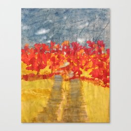 Flowery Road Canvas Print