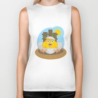 chicken Biker Tanks featuring chicken by Fargon