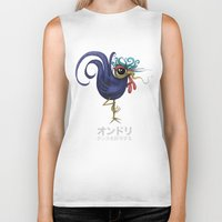 rooster Biker Tanks featuring Rooster by Daniel Olguin