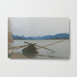 River and Mountains Metal Print