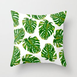 Guatemala - Monstera Deliciosa Jungle Throw Pillow