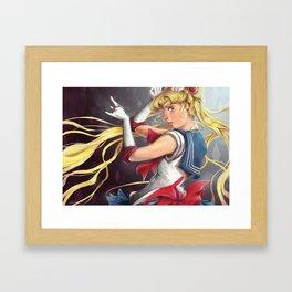 Crystal Moon Framed Art Print