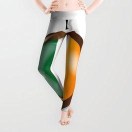 Irish Proud Flag Button Leggings