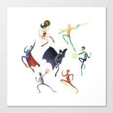 Spaghetti Justice League Canvas Print