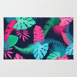 Tropical flowers dark Rug