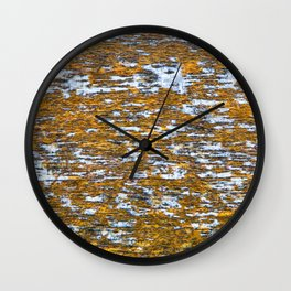 Moss on wood Textures 12 Wall Clock