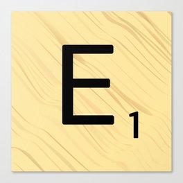 Scrabble E Decor, Scrabble Art, Large Scrabble Prints, Word Art, Accessories, Apparel, Home Decor Canvas Print
