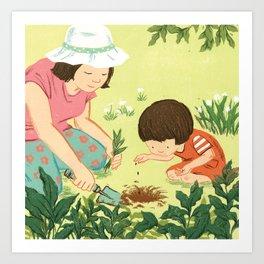 gardening Art Print