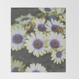 African Daisy Throw Blanket