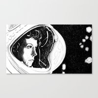 ripley Canvas Prints featuring Ripley by Molly Kiely
