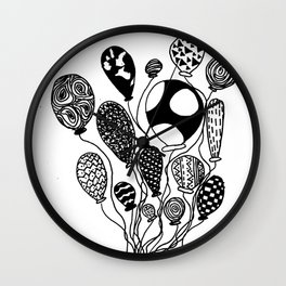 Balloon Design  Wall Clock