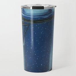 Blue Coffee Pot Travel Mug