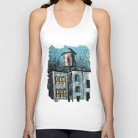 oil Tank Tops featuring Oil Tower by creativebloch.com