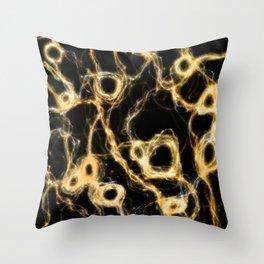 Gold, Brass Electricity Throw Pillow