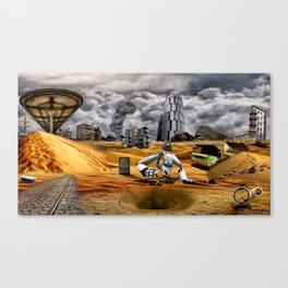 Catastrophic world Canvas Print