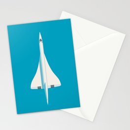 Concorde Supersonic Jet Airliner Aircraft - Cyan Stationery Cards