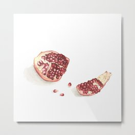 What I've been eating - pomegranate Metal Print