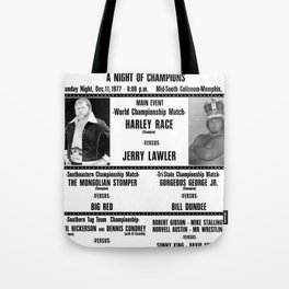 #2 Memphis Wrestling Window Card Tote Bag