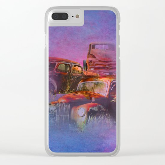 cars lost in the mist of time Clear iPhone Case