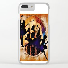 Kaz and Inej - armor Clear iPhone Case