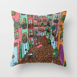 Quan els turistes han marxat (When the tourists have gone) Throw Pillow