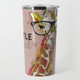 Hustle Hard Giraffe Travel Mug