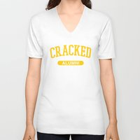 cracked V-neck T-shirts featuring Cracked Alumni by The Cracked Dispensary