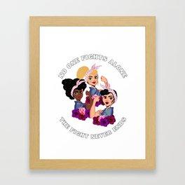 3 Rosie R. Breast Cancer Awareness Framed Art Print